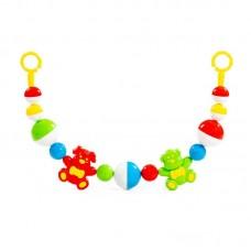 """Детская игрушка Погремушка-подвеска """"Верные друзья"""" (62 см), 71576, Полесье"""