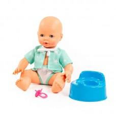 """Детская игрушка Пупс """"Забавный"""" (35 см) с соской и горшком (в пакете), 73051, Полесье"""