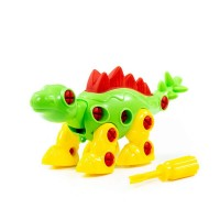 """Детская игрушка Конструктор-динозавр """"Стегозавр"""" (30 элементов) (в пакете) арт. 76694 Полесье"""
