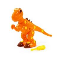 """Детская игрушка Конструктор-динозавр """"Тираннозавр"""" (40 элементов) (в пакете) арт. 76700 Полесье"""