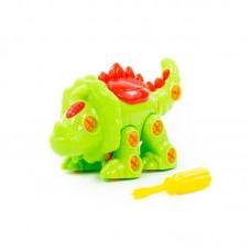 """Детская игрушка Конструктор-динозавр """"Трицератопс"""" (32 элементов) (в пакете) арт. 76717 Полесье"""