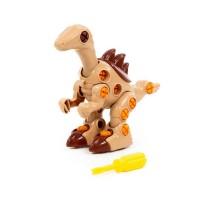 """Детская игрушка Конструктор-динозавр """"Велоцираптор"""" (36 элементов) (в пакете) арт. 76823 Полесье"""