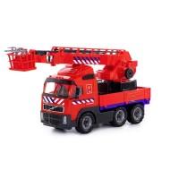 """Детская игрушка автомобиль пожарный """"Volvo"""" (Вольво)  (NL) (в сеточке) арт. 77301 Полесье"""