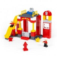 """Детская игрушка Конструктор """"Макси"""" - """"Пожарная станция"""" (81 элемент) (в коробке) арт. 77509 Полесье"""