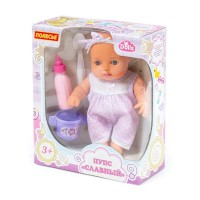 """Детская игрушка Пупс """"Славный"""" (24 см) + набор для кормления (3 элемента) (в коробке), 78285, Полесье"""