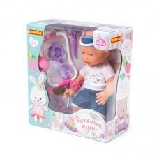 """Детская игрушка Пупс """"Весёлый"""" (35 см) с соской + набор """"Доктор"""" (4 элемента) (в коробке), 78353, Полесье"""