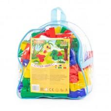 """Детская игрушка Конструктор """"Супер-Микс"""" (144 элемента) (в рюкзаке), 8039, Полесье"""