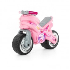 """Детская игрушка Каталка-мотоцикл """"МХ"""" (розовая) арт. 80608 Полесье"""