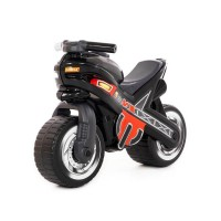 """Детская игрушка Каталка-мотоцикл """"МХ"""" (чёрная) арт. 80615 Полесье"""