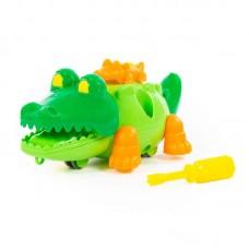 """Детская игрушка Конструктор """"Крокодил"""" (17 элементов) (в пакете) арт. 84446 Полесье"""