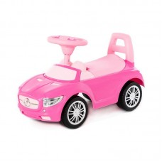 """Детская игрушка Каталка-автомобиль """"SuperCar"""" №1 со звуковым сигналом (розовая), 84477, Полесье"""