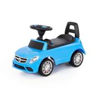 """Детская игрушка Каталка-автомобиль """"SuperCar"""" №3 со звуковым сигналом (голубая), 84484, Полесье"""