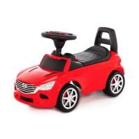 """Детская игрушка Каталка-автомобиль """"SuperCar"""" №4 со звуковым сигналом (красная), 84507, Полесье"""