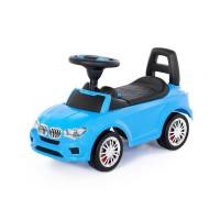 """Детская игрушка Каталка-автомобиль """"SuperCar"""" №5 со звуковым сигналом (голубая), 84521, Полесье"""