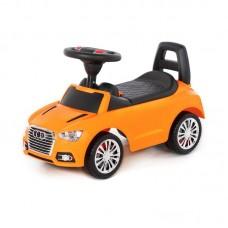 """Детская игрушка Каталка-автомобиль """"SuperCar"""" №2 со звуковым сигналом (оранжевая), 84569, Полесье"""