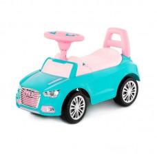 """Детская игрушка Каталка-автомобиль """"SuperCar"""" №2 со звуковым сигналом (бирюзовая), 84576, Полесье"""