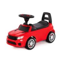 """Детская игрушка Каталка-автомобиль """"SuperCar"""" №6 со звуковым сигналом (красная), 84590, Полесье"""