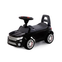 """Детская игрушка Каталка-автомобиль """"SuperCar"""" №6 со звуковым сигналом (чёрная), 84613, Полесье"""