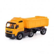 """Детская игрушка """"Volvo"""", автомобиль-самосвал с полуприцепом (в сеточке) арт. 8749 Полесье"""