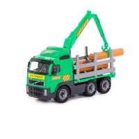 """Детская игрушка """"Volvo"""", автомобиль-лесовоз (в сеточке) арт. 8756 Полесье"""