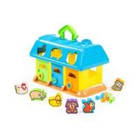 Детская игрушка Домик для зверей (в сеточке). Игрушка-сортер арт. 9166 Полесье