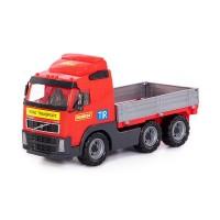"""Детская игрушка грузовик, автомобиль бортовой """"Volvo"""" (в сеточке) арт. 9463 Полесье"""