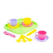 """Детская игрушка Набор детской посуды """"Минутка"""" с подносом на 3 персоны, 9523, Полесье"""