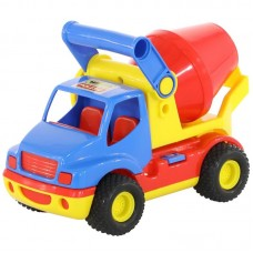 """Детская игрушка """"КонсТрак"""", автомобиль-бетоновоз (в сеточке), 9692, Полесье"""