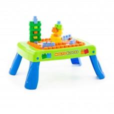 Детский  игровой набор с конструктором с элементом вращения (20 элементов) в коробке (зелёный)  арт. 57990 Полесье
