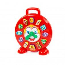 """Детская игрушка-сортер Часы """"Клоун"""" (в сеточке) арт. 62741 Полесье"""
