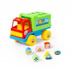 """Детская развивающая игрушка-сортер грузовик """"Забава"""" (в сеточке) арт. 6370 Полесье"""