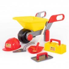 """Детская игрушка Тачка №4 """"Construct"""" + набор каменщика №4 """"Construct"""" (5 элементов) арт. 50229 Полесье"""