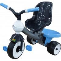 Детский трехколесный велосипед без ручки Амиго №2. Колеса из вспененного каучука. Полесье. Арт. 46420