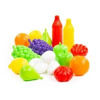 Детский игровой  набор продуктов №6 (19 элементов) (в сеточке) арт. 47014 Полесье